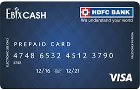 hdfcbank hdfc bank ebixcash prepaid card