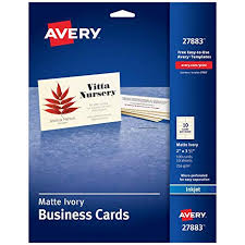 Avery Printable Business Cards Inkjet Printers 100 Cards 2 X 3 5 Ivory 27883