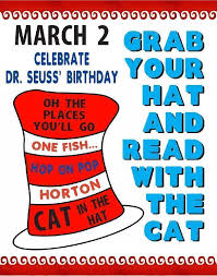 happy birthday poster ideas create a poster about book club meeting dr seusss birthday