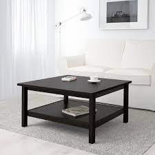 Glass coffee tables with round or rectangular tops offer a traditional look. Hemnes Coffee Table Black Brown 35 3 8x35 3 8 Ikea