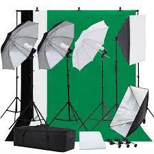 photo studio photography lighting kit umbrella softbox muslin backdrop