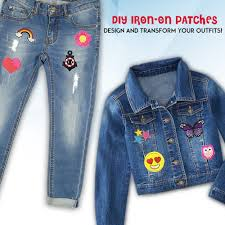 Designer Iron On Patches 36 Pcs Iron On Patches Set Assorted Designs Embroidered