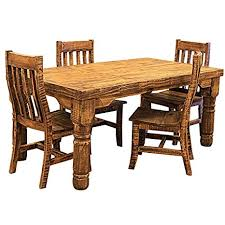 image unavailable image not available for color 6 rough cut rustic western dining room set
