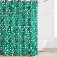 eforcurtain elegant fl mildew proof shower curtain green leaves pattern standard size durable fabric bath curtains water resistant for home and hotels