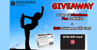 microbiome plus win a year of microbiome plus a 100 giveawayca