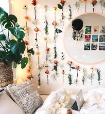 It's a fairly simple project, one which you can customize in an infinite number of ways. Artificial Flower Wall Bohemian Room Decor Simple Wall Decor Cute Bedroom Decor
