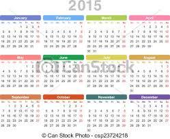 Annual Calendar 2015 2015 Year Annual Calendar Monday First English