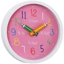 Kids Wall Clock With Pendulum Kids Room Decor Kids Tell The Time Wall Clock  Pink Kids
