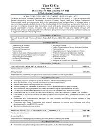 Accounts Receivable Resume Templates Experimental Snapshot Cover