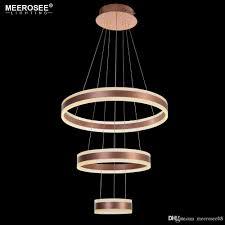 modern 3 circle rings led pendant lights for living room dining room led re rose gold pendant lamp hanging luminaire edison bulb chandelier capiz