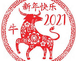 The ox occupies the second position in the chinese zodiac. Chinese New Year Svg Etsy