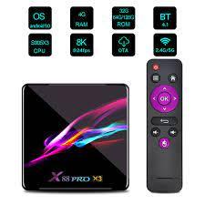 X88 PRO X3 Amlogic S905x3 4GB/32GB TV Box Black