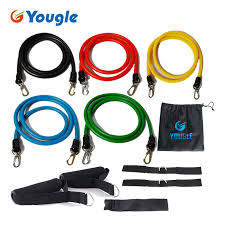 YOUGLE New <b>11 Pcs</b>/<b>Set</b> Latex <b>Resistance Bands</b> Workout ...