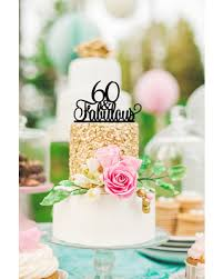 Amazing Deal On 60th Birthday Cake Topper 60 And Fabulous Cake