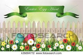 Easter Egg Hunt Background Clipart K35004772 Fotosearch