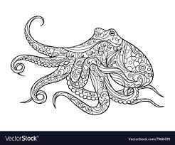 octopus coloring book for s vector image