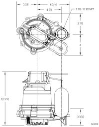 zoeller submersible pumps view 50 series pump dimension diagram