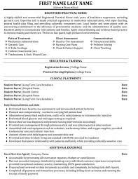 Sample Of Nursing Resume Unique Registered Practical Nurse Resume Sample Template