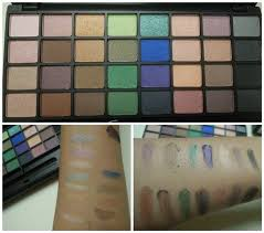 elf studio makeup clutch palette review and dels on the swatch