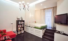 raised floor bed. Exellent Bed Studio Apartment With A Raised Platform Bed And Wide Windowsills To Floor D