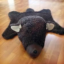rustic nursery faux bearskin rug