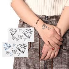 2346 руб 16 скидкамилый бриллиант сердце татуировки временные татуировки для