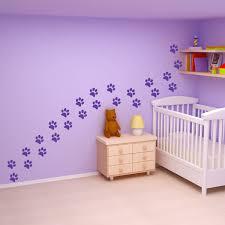 kitten animal paw prints removable vinyl wall art decals