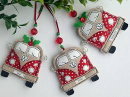VW Van Christmas Decoration Fabric Christmas Ornaments