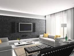 Living Room Accent Colors Black And White Living Room With Accent Color Strip Covered Accent
