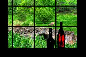 Park Bench Digital Art - View From The Window by Rachel Katic