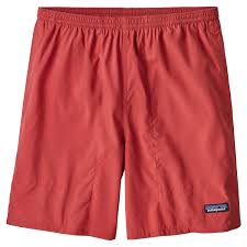 Patagonia Mens Baggies Lights Boardshorts Static Red