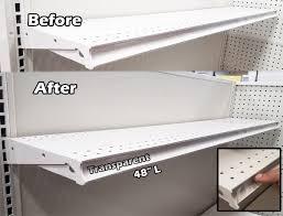 gondola shelving pre cut vinyl insert strips for ticket channel 48 x 1 25 h clear