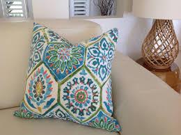 Outdoor Pillows Blue Green Moroccan Outdoor Cushion Cover