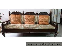 wooden sofa set 3 2 seater brown colour 4 year old