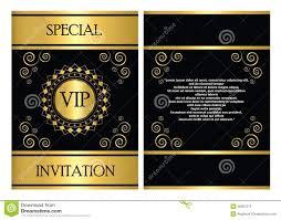 Invitation Cards Template Free Download Vip Invitation Card Template Stock Vector Illustration Of Company