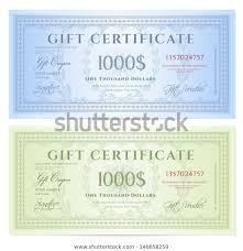Gift Certificate Voucher Template Guilloche Pattern Stock