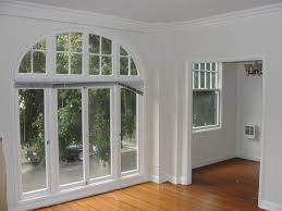 Sophisticated Four Glass Front Doors With Transom Arched Windows As Luxury  House Interior Decors Added Laminate Wooden Floors Installations Tips