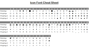 Wingdings To Webdings Conversion Chart Whoishtb
