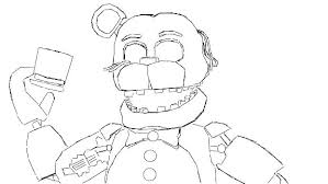Fnaf Coloring Pages Sheets Mangle Sister Location Nightmare