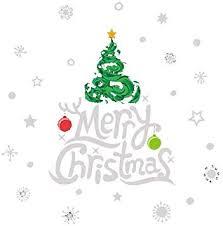Christmas Windows Stickers <b>Creative Happy</b> Christmas Tree Pattern ...