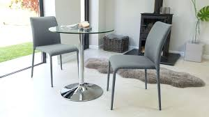 Modern Round Glass Dining Table Modern Round Glass And Chrome Table