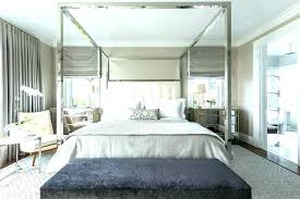 bed with mirrored canopy