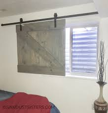i have the perfect window to put this barn door window slider this is definitely