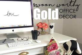 chic office decor. Chic Gold Office Decor That Will Inspire Creativity H