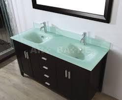 Cambridge 63 Inch Glass Top Double Sink Vanity Set Tempered Glass Vanity Tops With Double Sink