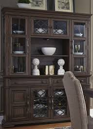 Lucca Brown Buffet with Hutch