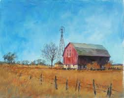 original art for at ugallery com windmill barn by suzanne massion 375
