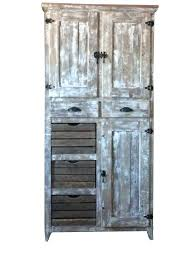 Solid Wood Pantry Cabinets Tall Farmhouse Rustic Cabinet W Crates  Handmade Same As   T63
