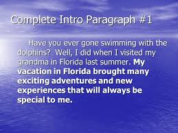 personal narrative essay compose an essay relating the details of 4 complete