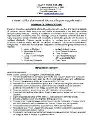 Resume Waitress Example Cover Letter For Restaurant Waitress No ...
